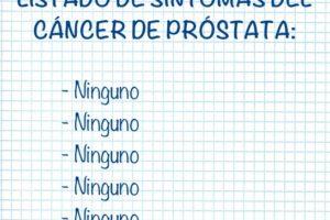 Listado de síntomas del cáncer de próstata
